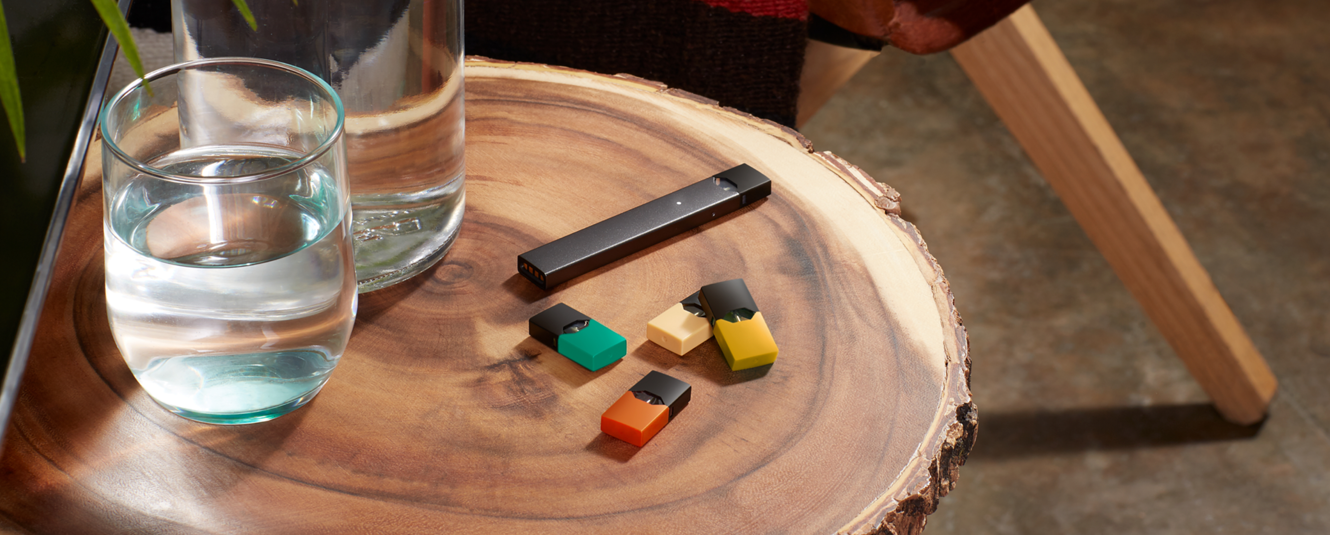 JUULpods on a table | JUUL