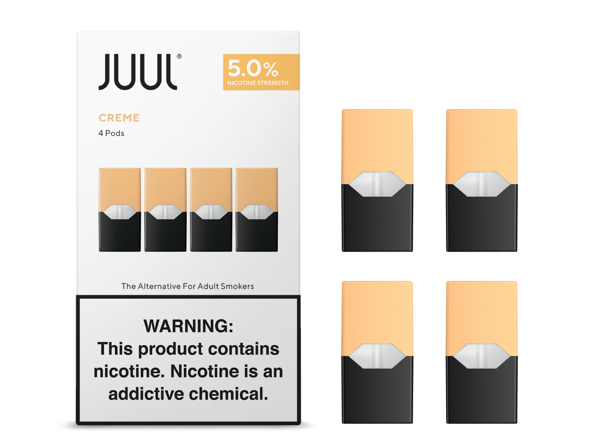 Juul Creme Pods Pack Of 4 5 Nicotine Strength Free Shipping